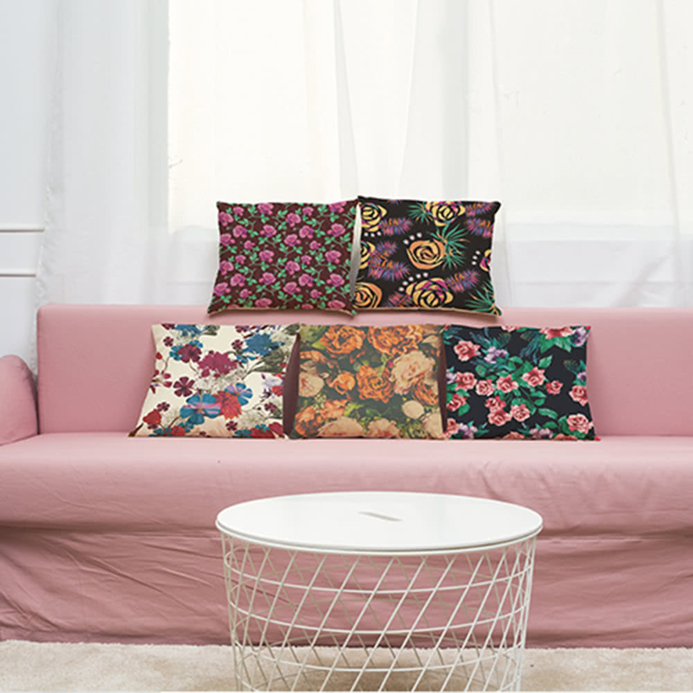 Mode haute qualit color linge de fleurs multi couleurs for Linge de maison haute qualite