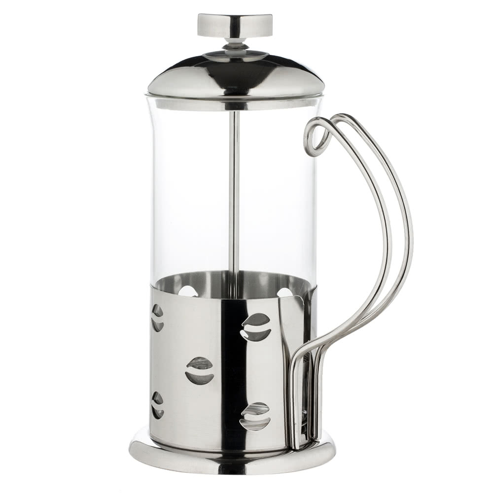 High End French Press Coffee Maker : 350ml Stainless Steel French Press Pot High-end Cafetiere Coffee Cup Tea Filter 3-Cup Coffee ...
