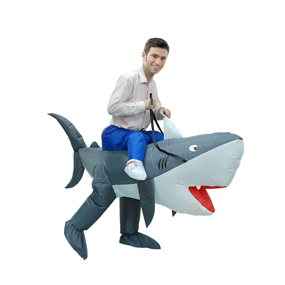 Adult Inflatable Costume Shark Cosplay Prop Rider Carry On Animal Fancy Dress Costume Inflatable Animal Costume for Festival Party Gala Parade Halloween ...  sc 1 st  Tomtop.com & Adult Inflatable Costume Shark Cosplay Prop Rider Carry On Animal ...
