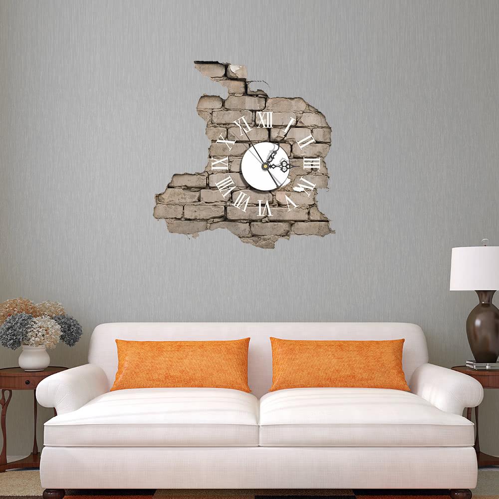 15.4 * 14.9u0027u0027 DIY Removable 3D Wall Clock Sticker Quartz Movement Wall  Decortive Stickers Living Room Bedroom Decal Decor