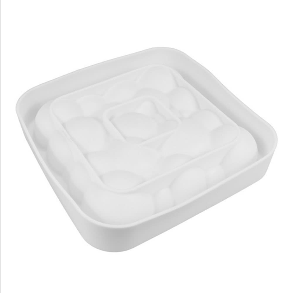 Torta quadrata in 3d nichel di silicone diamante cuore for Attrezzi cucina in silicone