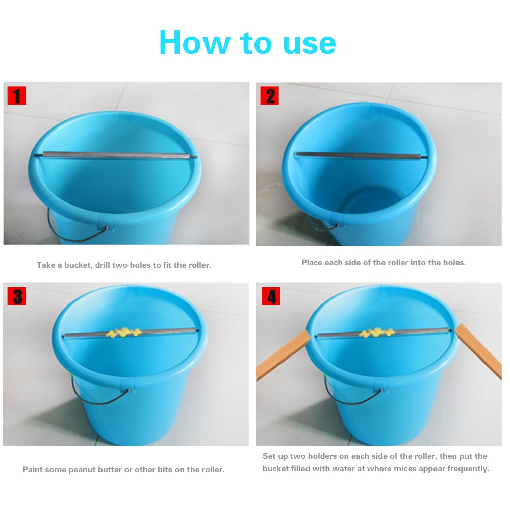 rolling log mouse trap instructions