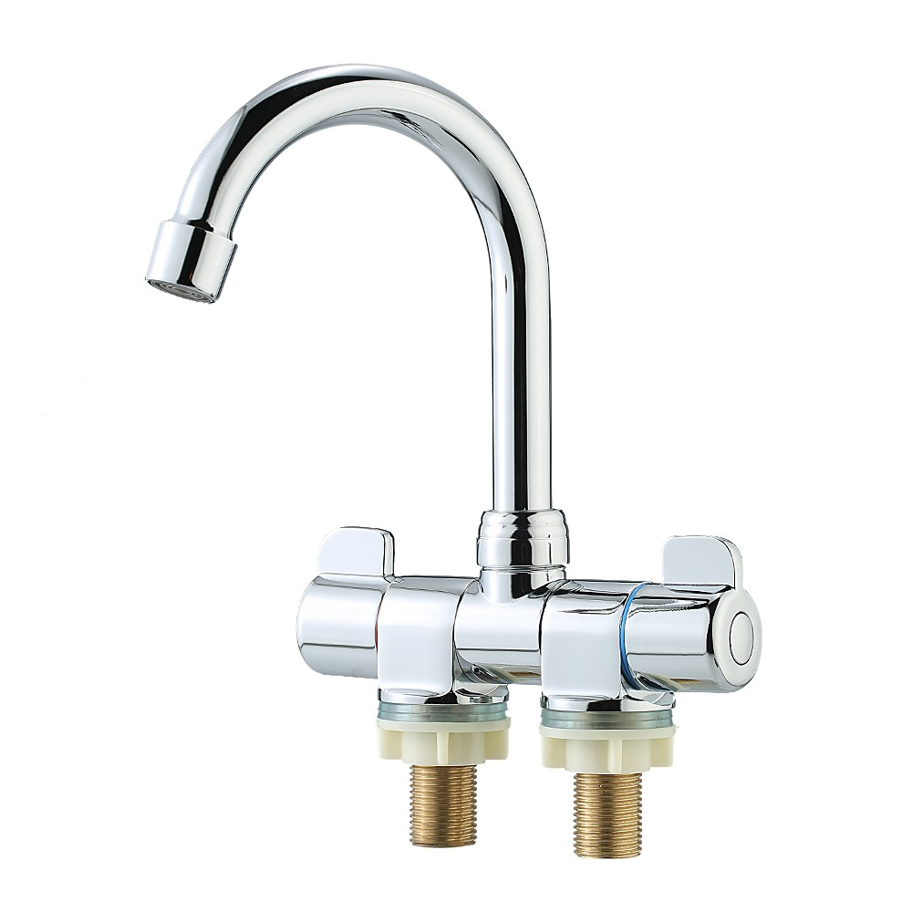 Foldable rv faucet rotating two handle deck wall mounted - Rv kitchen sink faucet ...