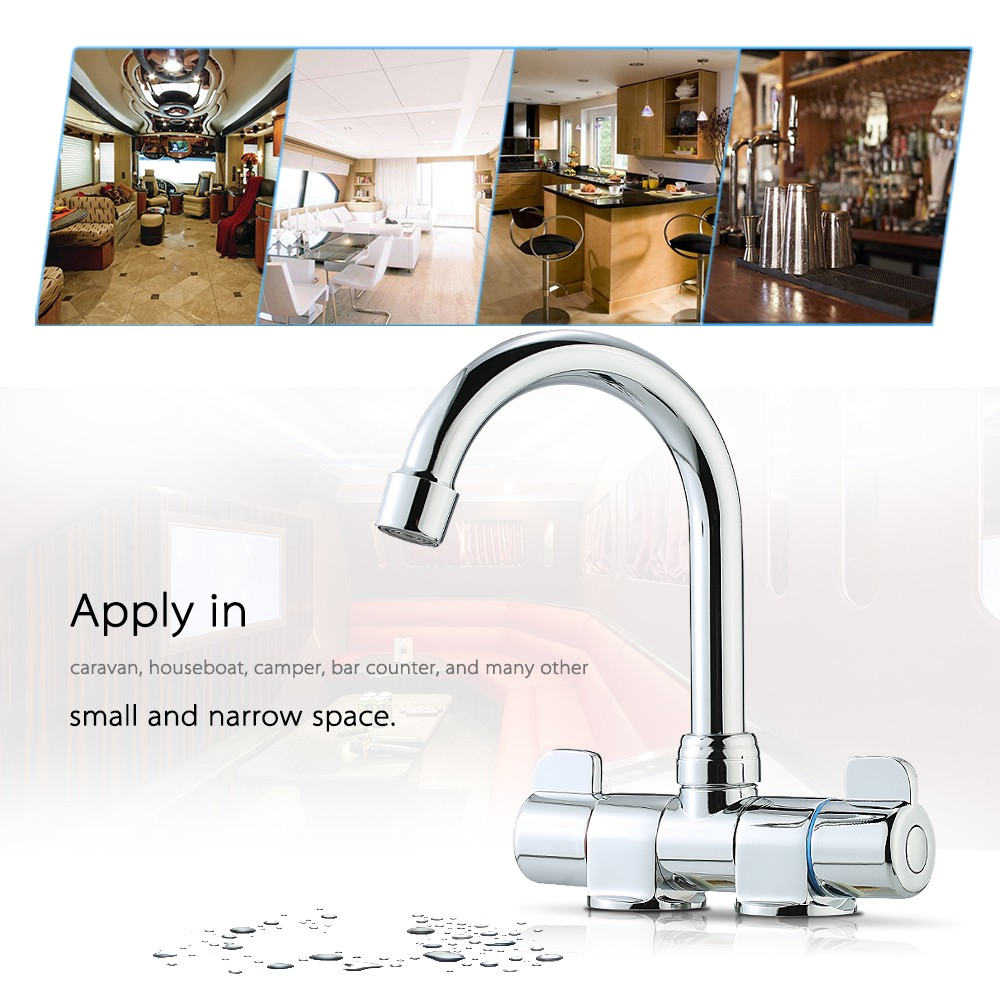 Foldable RV Faucet Rotating Two Handle Deck/Wall Mounted RV Kitchen ...