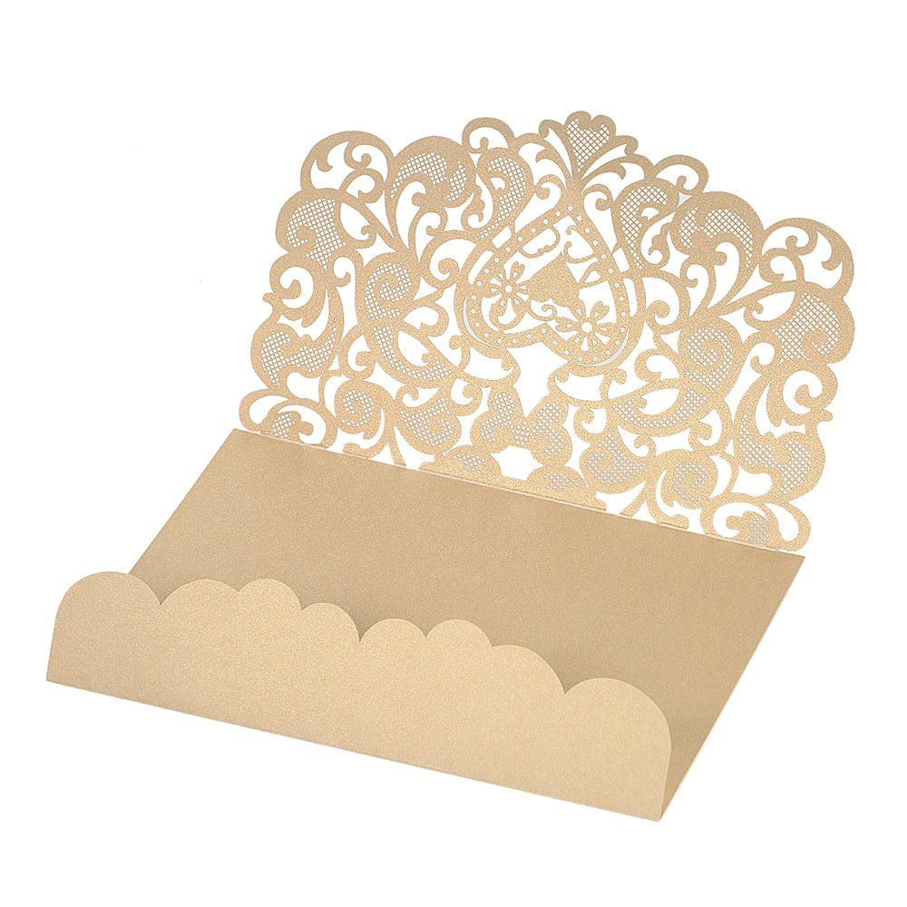 Wedding Invitation Card Paper: Wedding Invitation Card Cover Pearl Paper Laser Cut Hollow