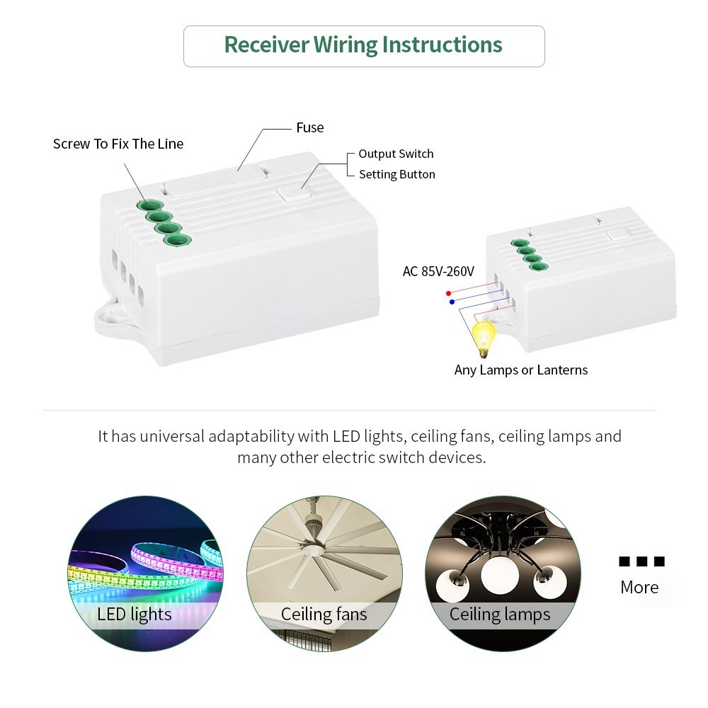 Wireless Wifi App Remote Control Light Switch Receiver Work With Fuse Xbox 360 Amazon Alexa Google Home Echo Voice Receiving Controller Ac85v 260v Sales Online 1