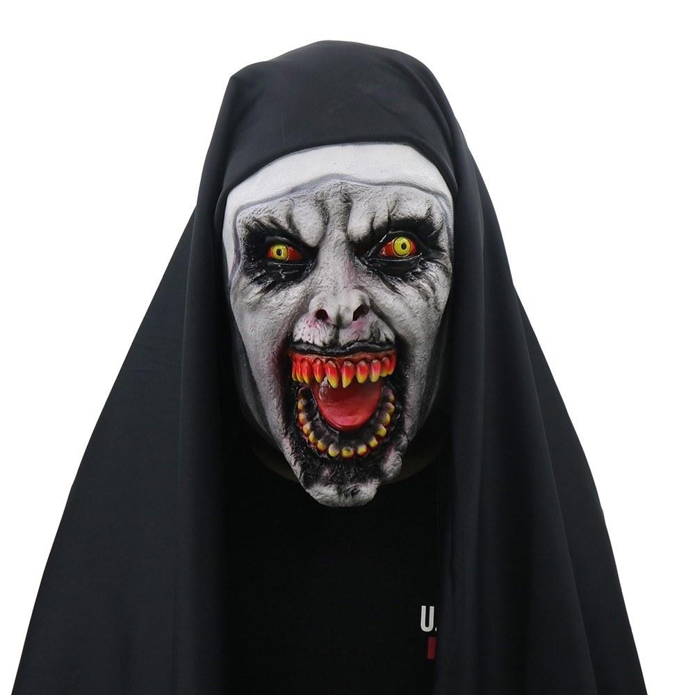 The Devil S Music De Maskers: Devil Cosplay Nun Valak Mask Sales Online Black