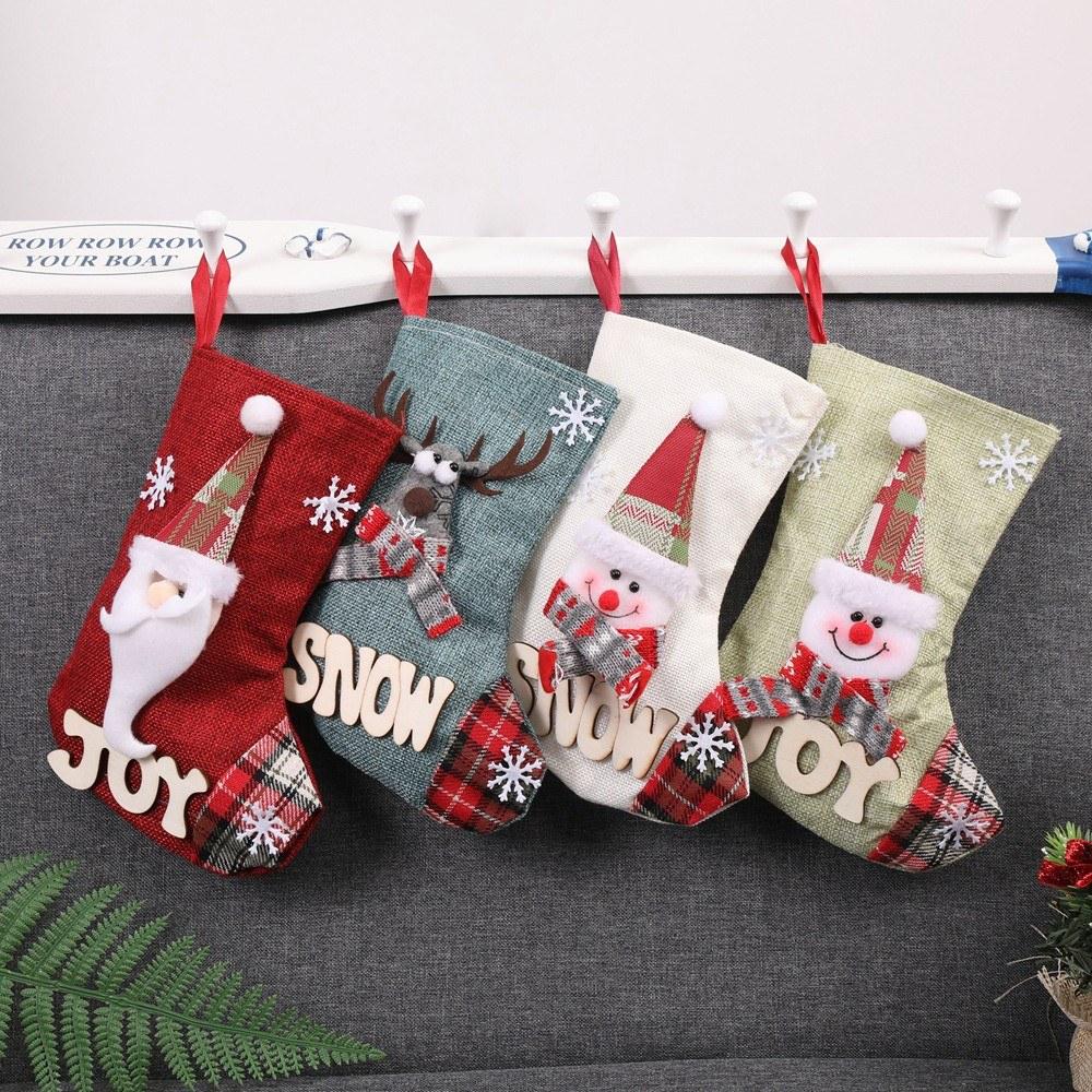Weihnachtsstrumpf-Socken-Geschenk-Süßigkeitstaschen # 1 - Tomtop.com