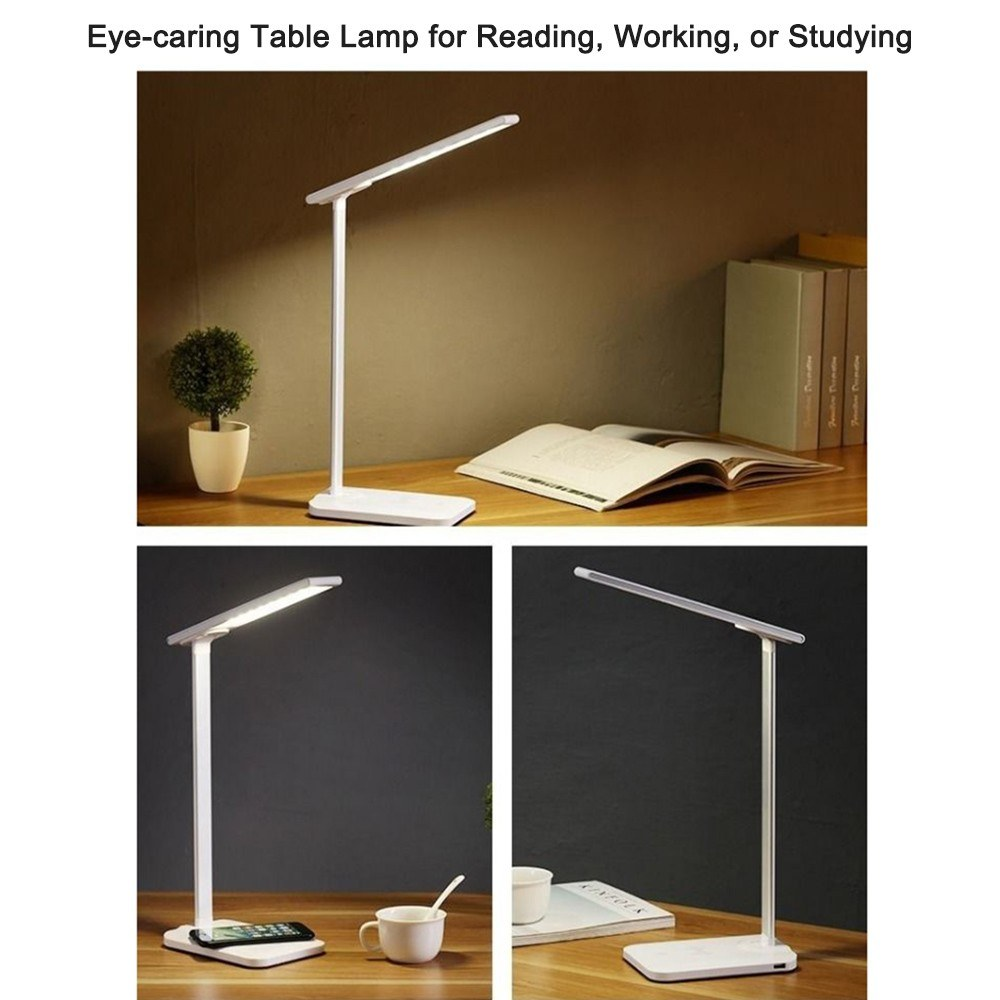 Best 5w Eye Caring Table Lamp Wireless Charging Dimmable
