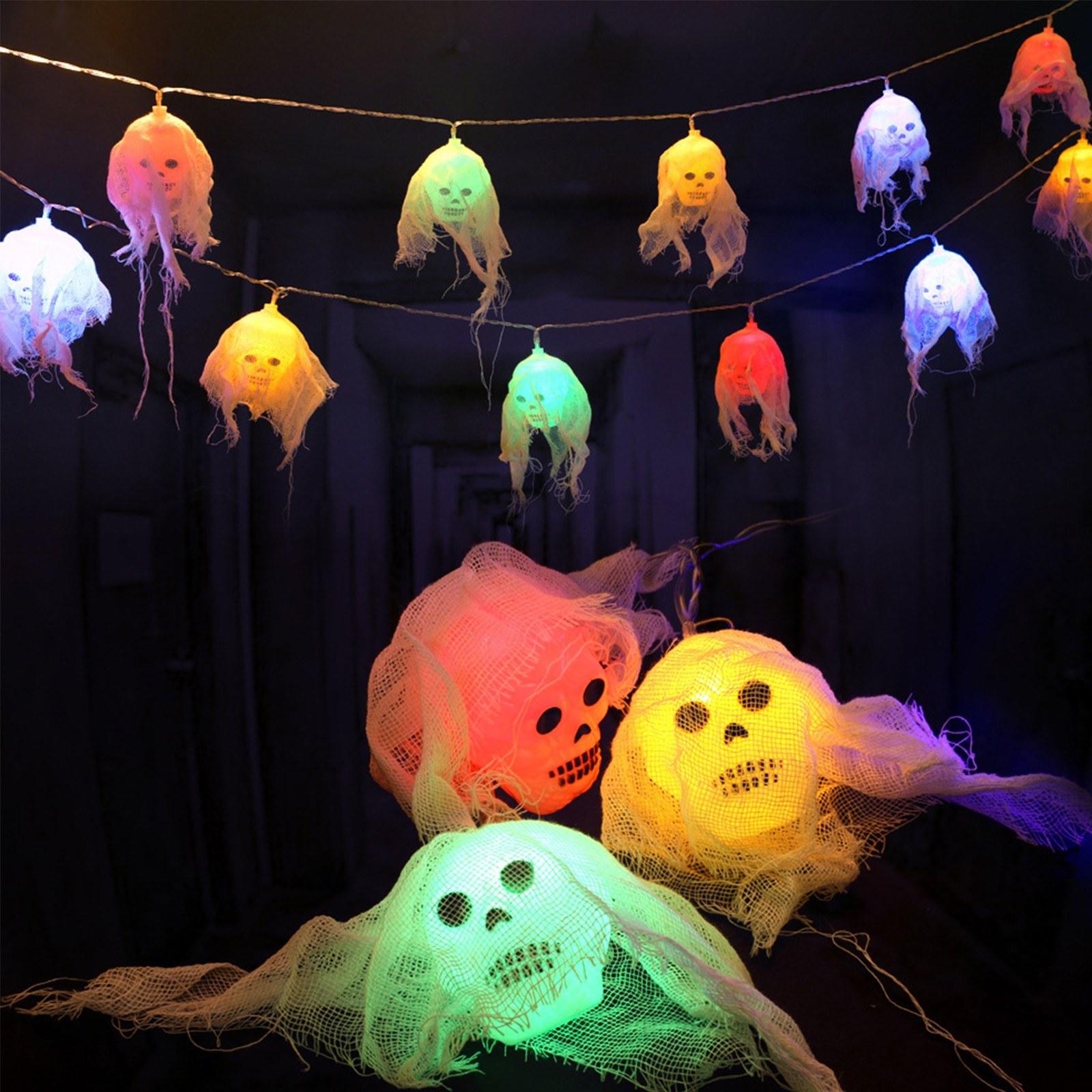 Tomtop - 59% OFF 8FT Halloween Skull String Lights 10 LEDs Ghost Skeleton Lights, $11.49 (Inclusive of VAT)