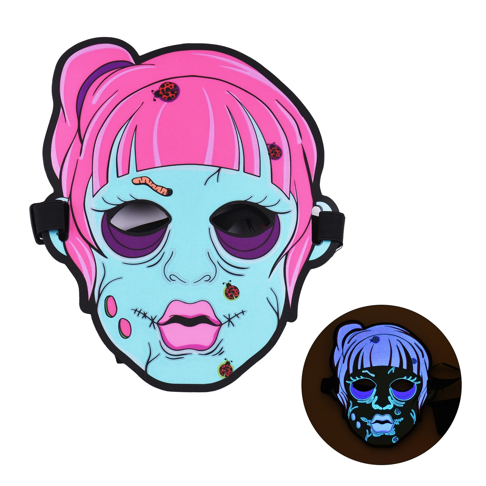 Tomtop - 51% OFF Halloween Scary Mask LED Sound Activated Light up Masks, $10.99 (Inclusive of VAT)