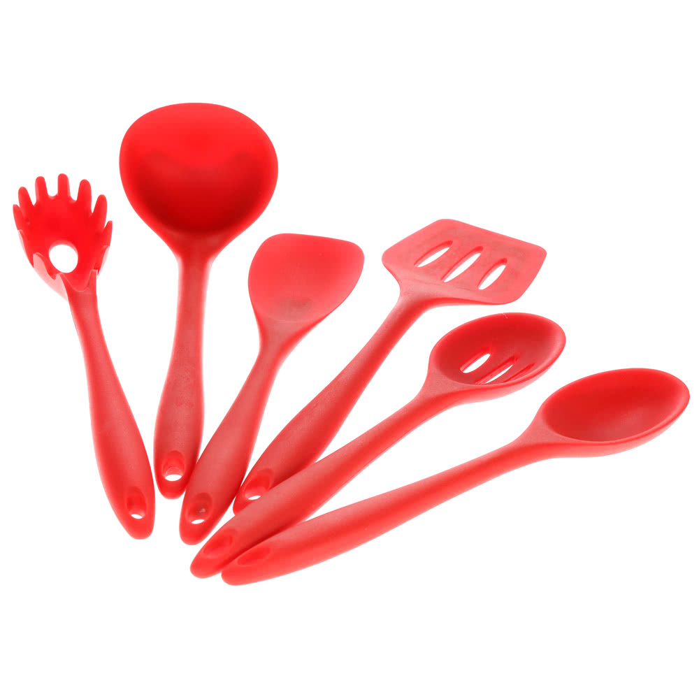 High quality 6pcs silicone kitchenware suit kitchen tools for Kitchen tool 6pcs set