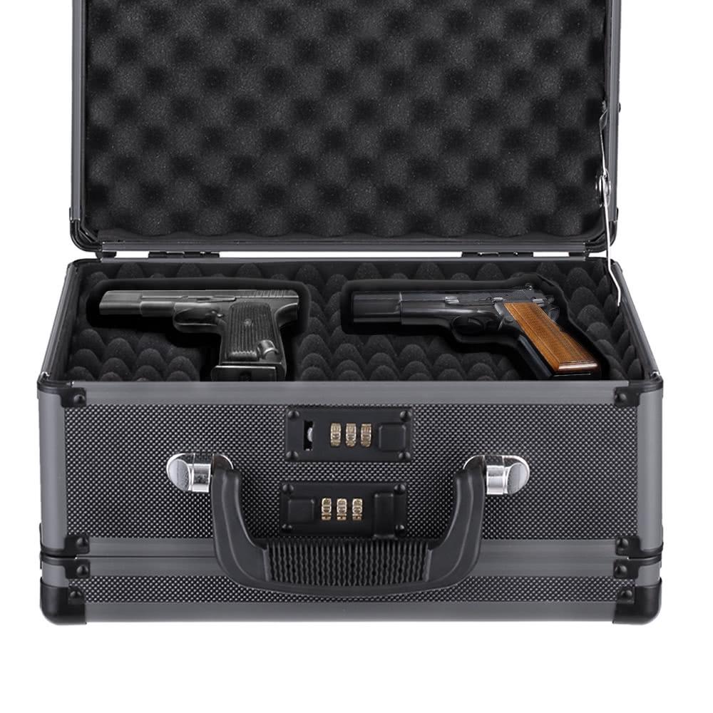 Tomtop - [EU Clearance Sale] 54% OFF iKayaa Double Sided Aluminum Hard Pistol Handgun Case, $35.99 (Inclusive of VAT)