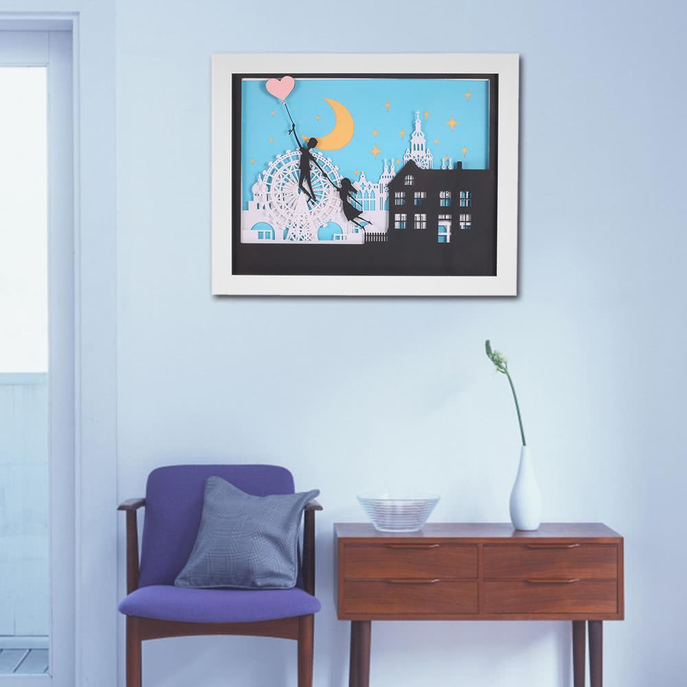 Pintura decorativa 3d moderna con el marco delicado for Pintura decorativa efeito 3d