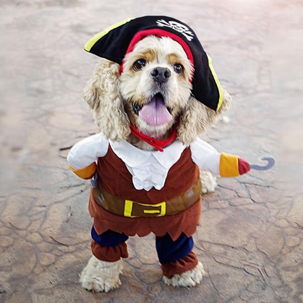 Cute Pet Pirate Costume Suit Apparel Dog Puppy Cat Clothes C