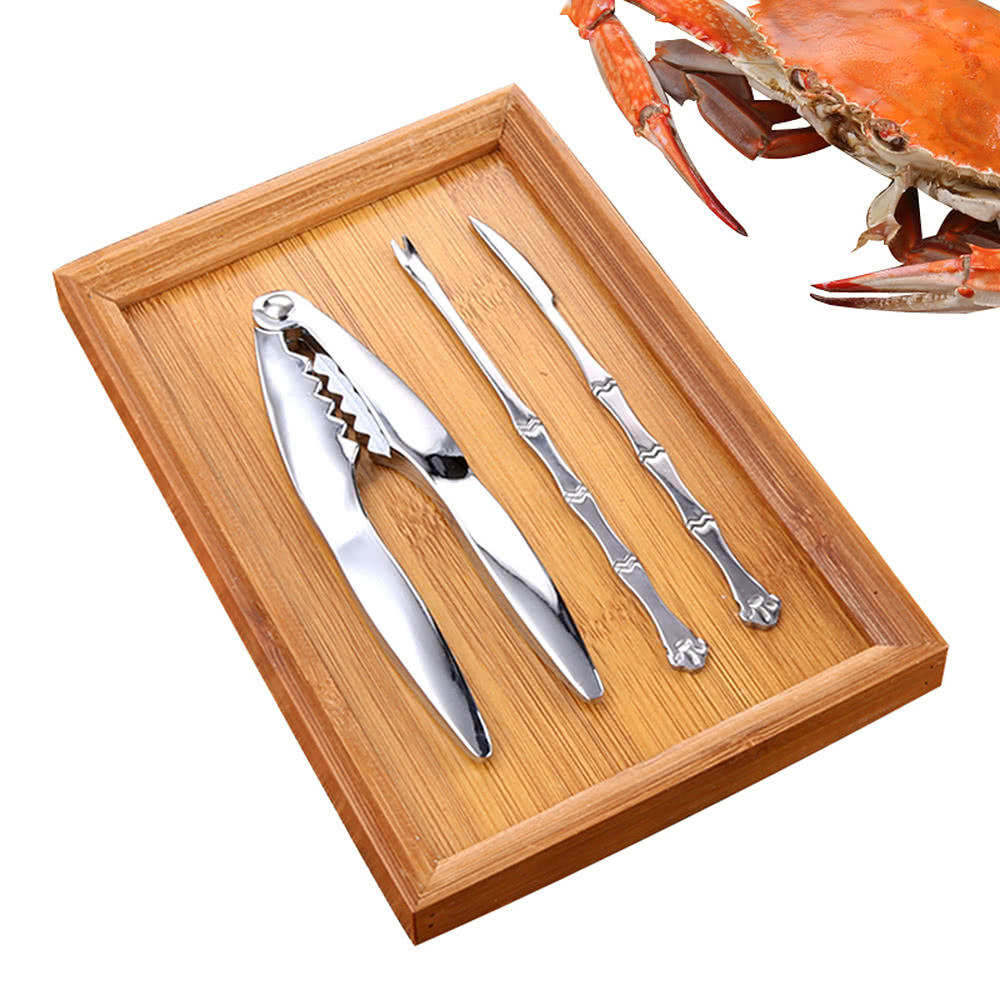 L 39 hopan 3pcs set zinc alloy crab cracker stainless steel for Kitchen set zink