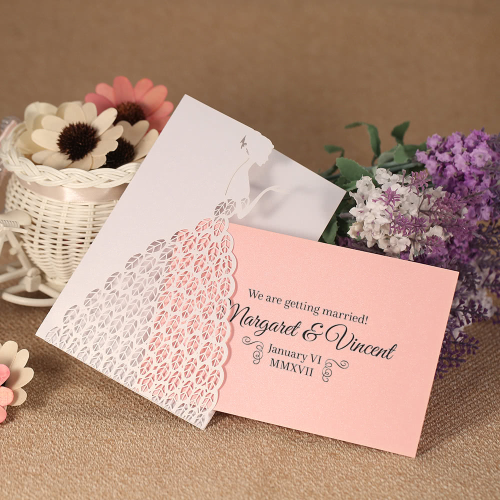 20pcs Invitation Holders + 20pcs Inner Sheets Wedding Invitation ...