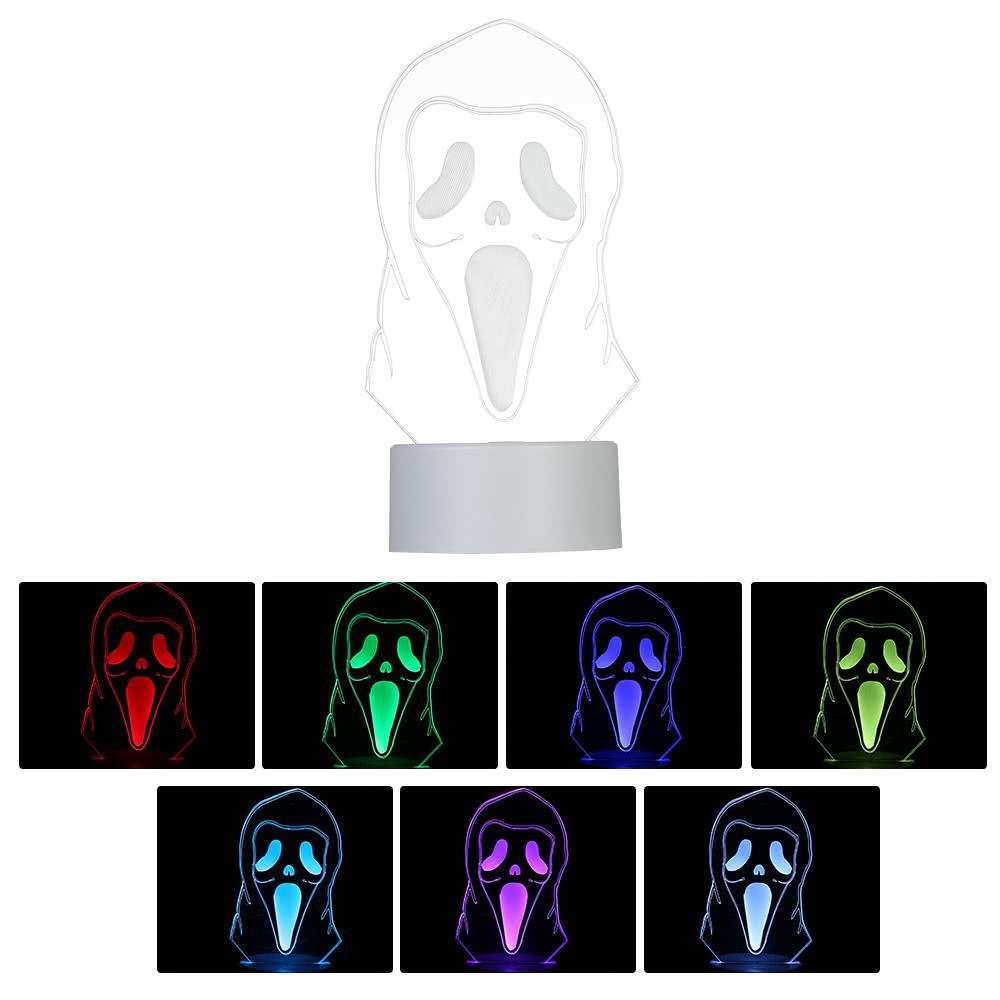 купить 3d оптическая иллюзия красочная светодиодная настольная лампа