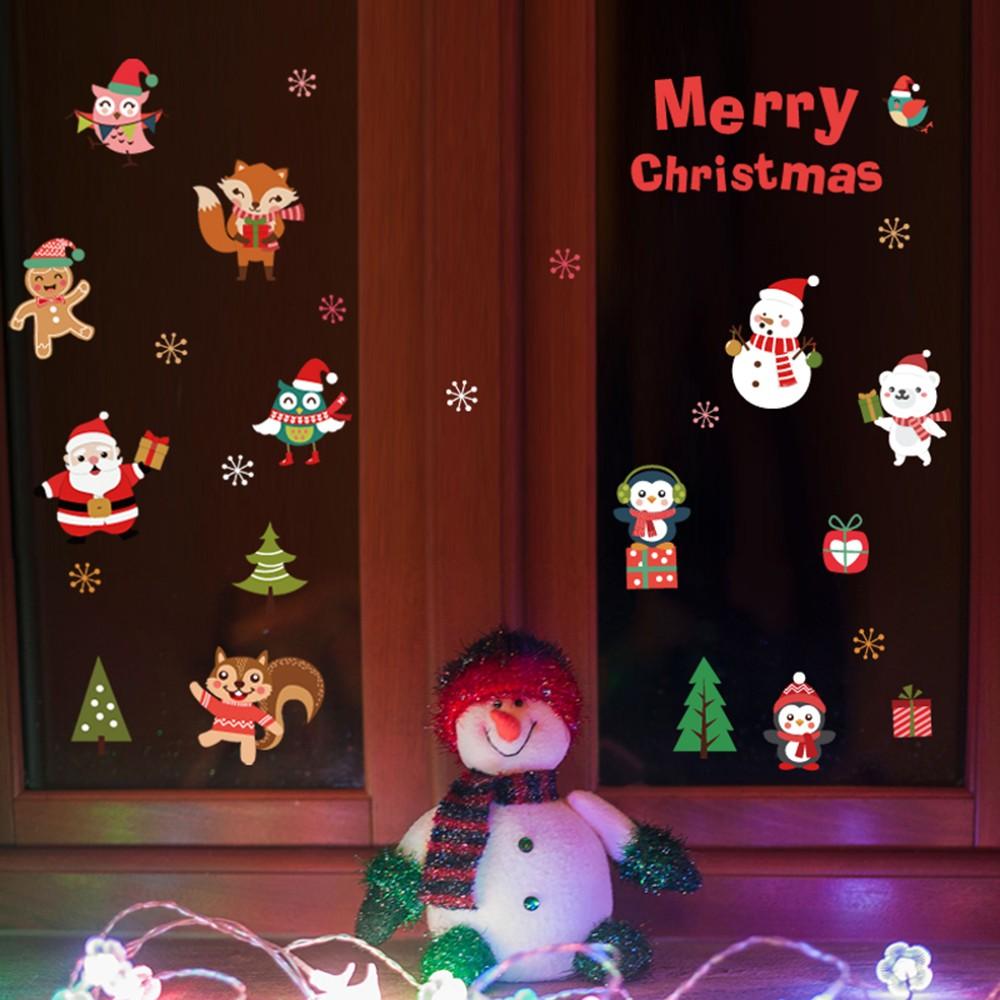 45 60 cm feliz navidad diy removible pared pegatinas de for Decoracion del hogar en navidad