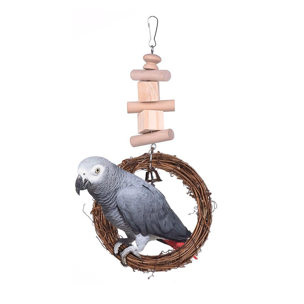 Vogelkäfig spielzeug hängen stehen kauen futtersuche