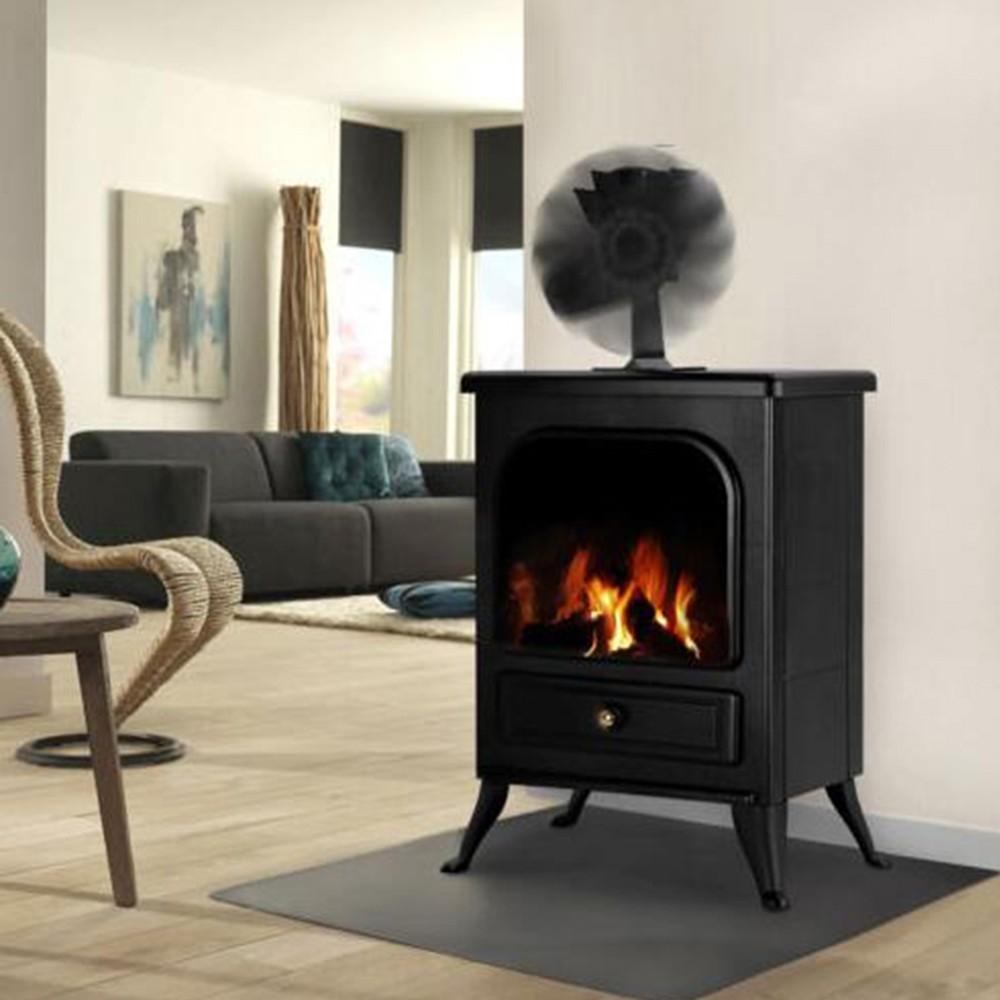 4 blade quiet heat powered stove fan fireplace fan wood for Eco friendly fireplace