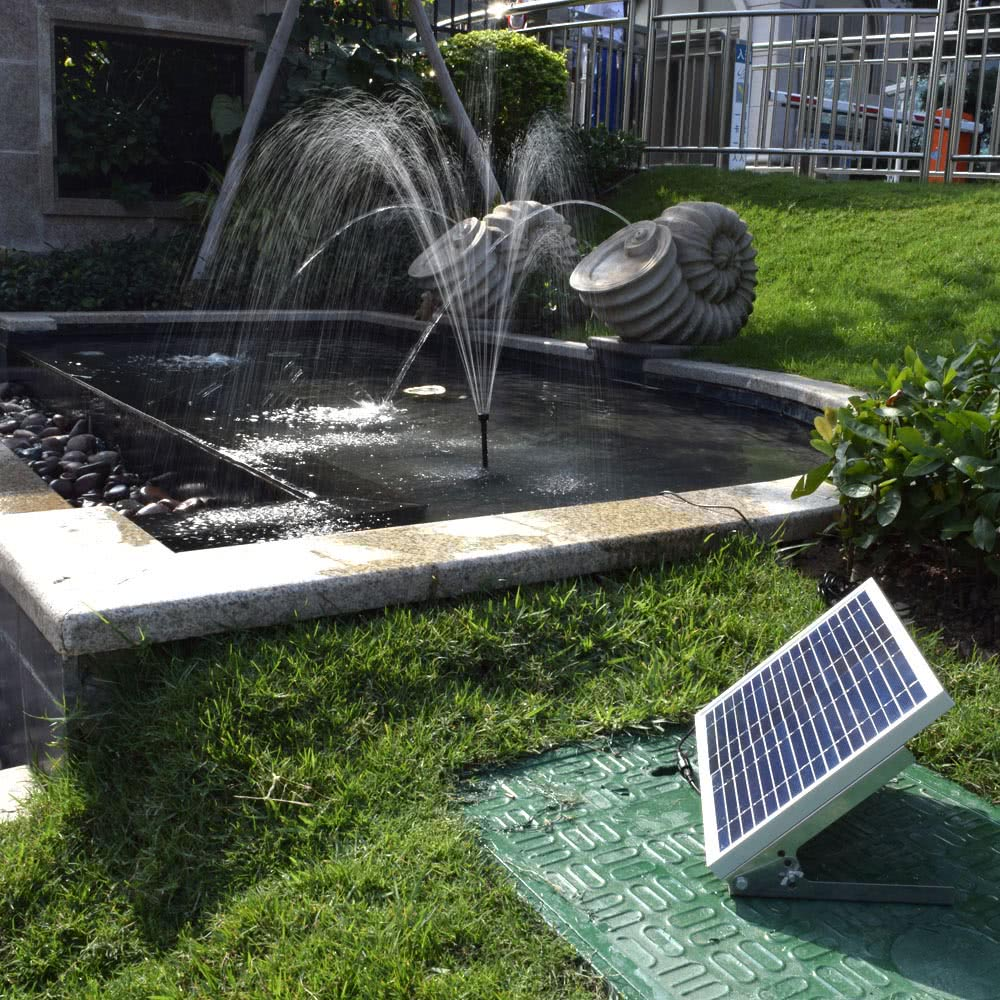 High-power Solar Landscape Fountain 17V 10W Equipment Solar Water ...