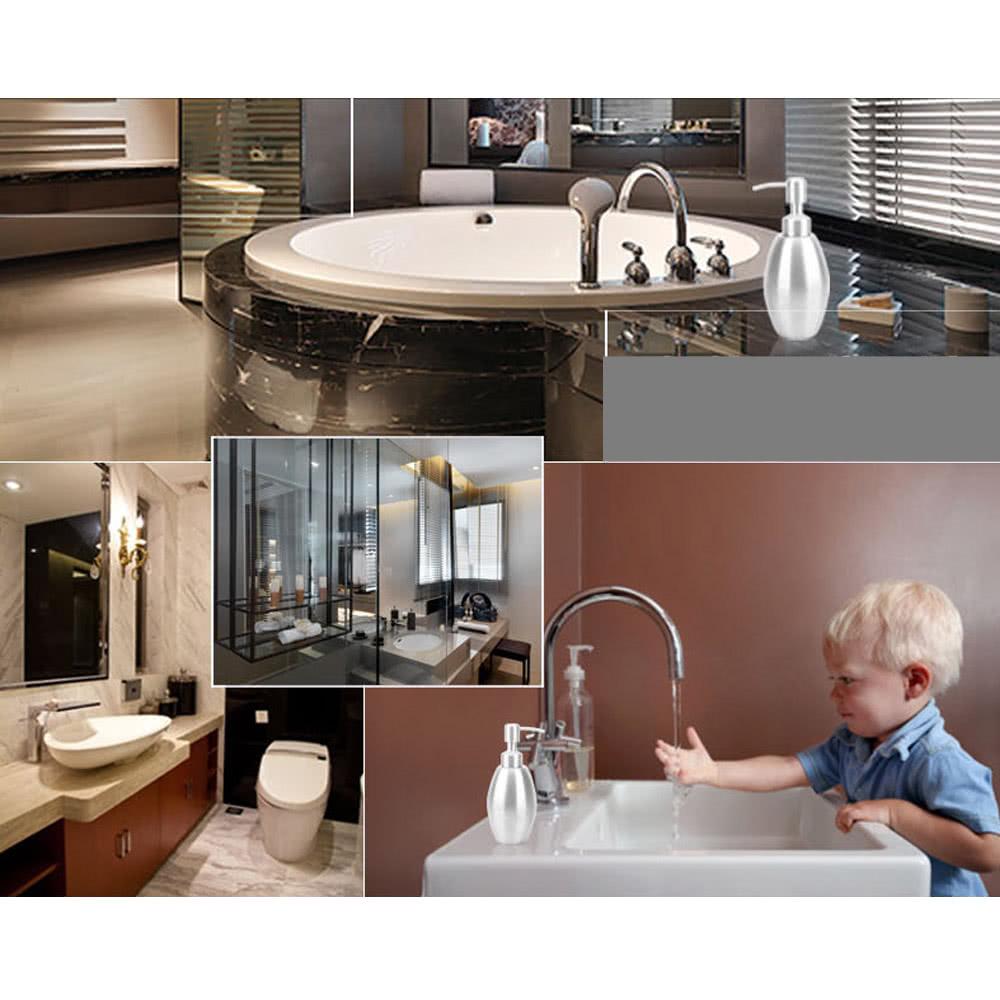 Hochwertige edelstahl seifenspender fl ssige f r bad k che arbeitsplatte badezimmer accessoire - Arbeitsplatte bad ...