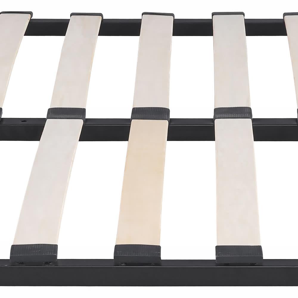 Ikayaa plate forme contemporaine en m tal cadre de lit for Cadre de lit king plate forme ikea