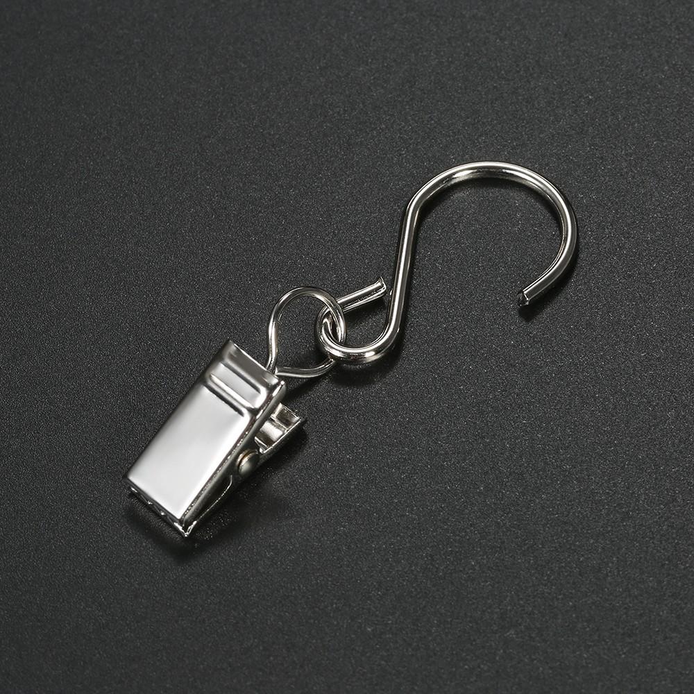 Esonmus 30pcs set ganchos para colgar en la cortina de for Ganchos de metal para cortinas
