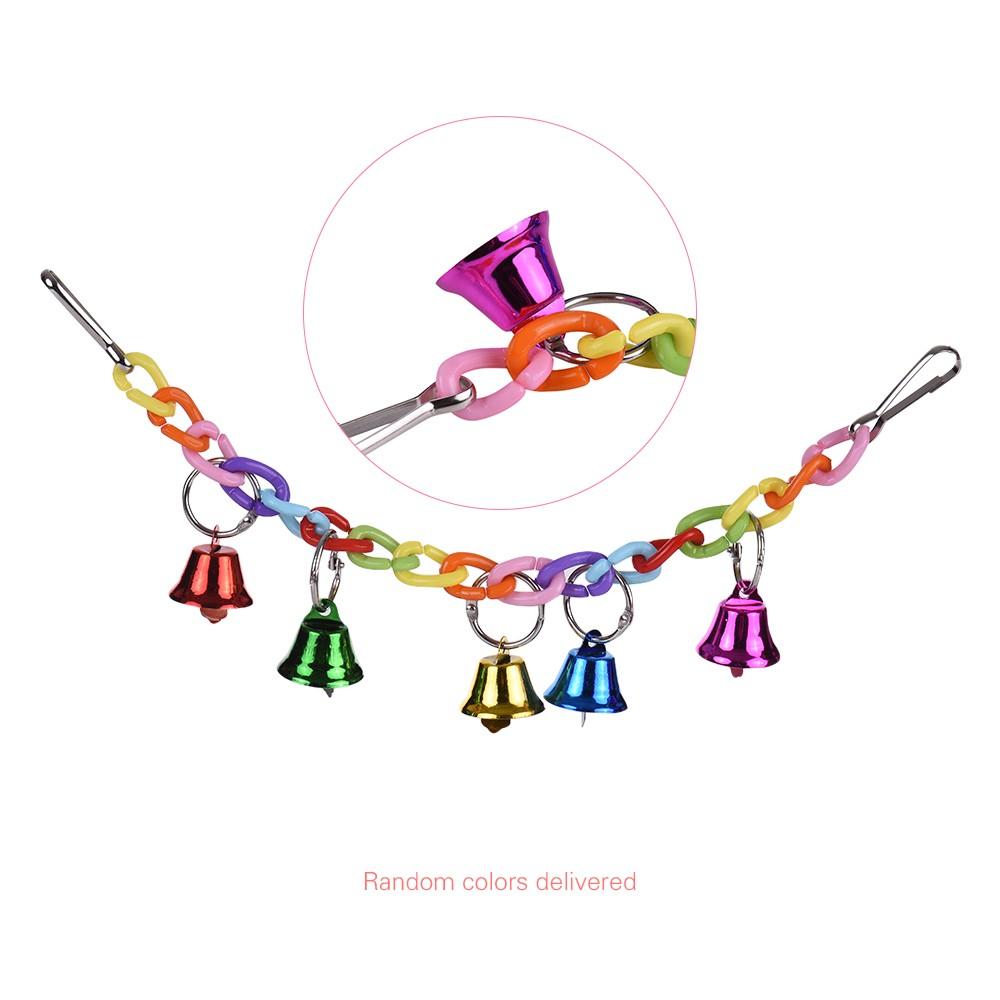 Colorato pappagallo masticare giocattolo acrilico uccello for Altalena con ponte