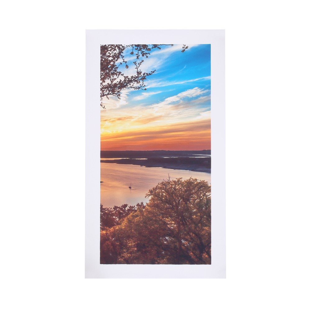 HD Printed 5 Panel Unframed Sunset Landscape Pattern Canvas Painting Wall  Art Modular Pictures Decor For Home Living Room Bedroom