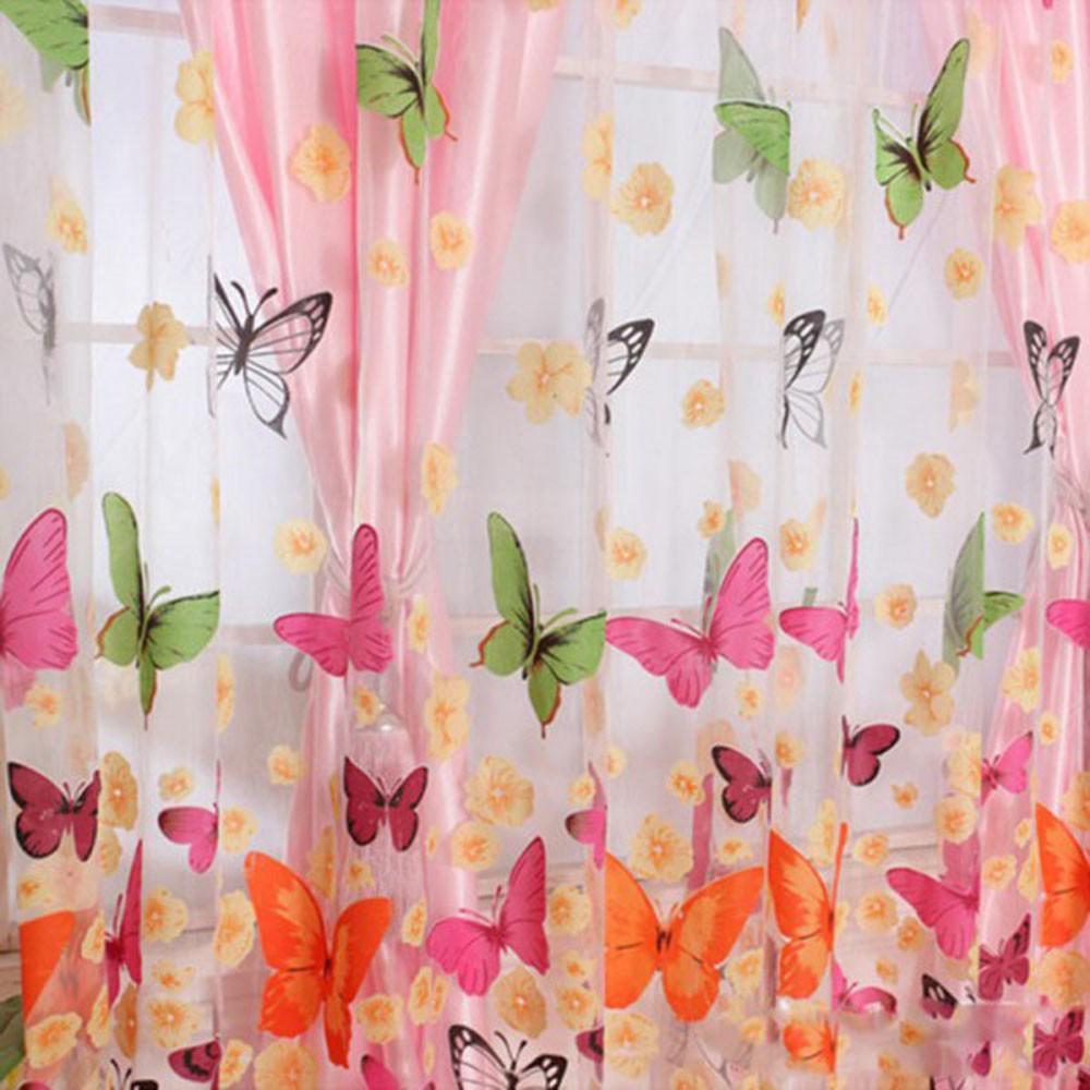 2pcs 1 m 2 m rom ntica lavable ventana puerta cortinas for Hogar textil decoracion