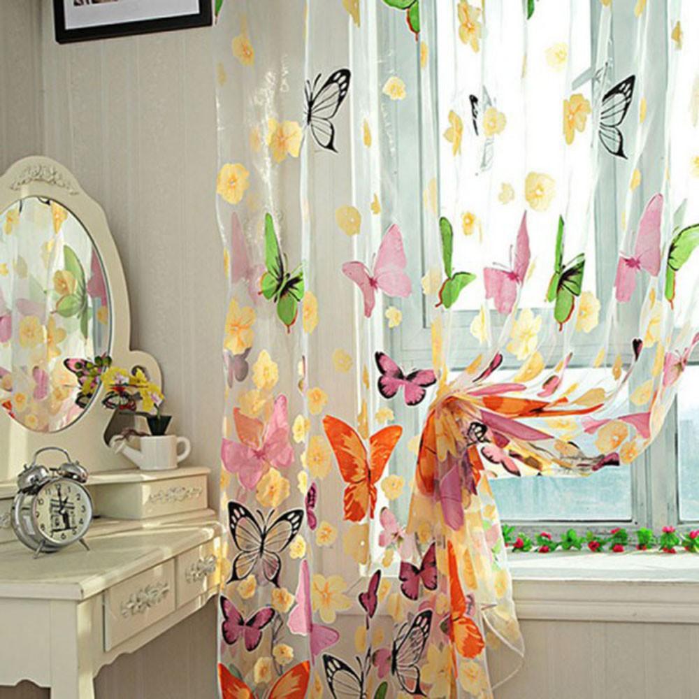 2шт 1m*2m романтические моющиеся оконные сетки для двери окн.