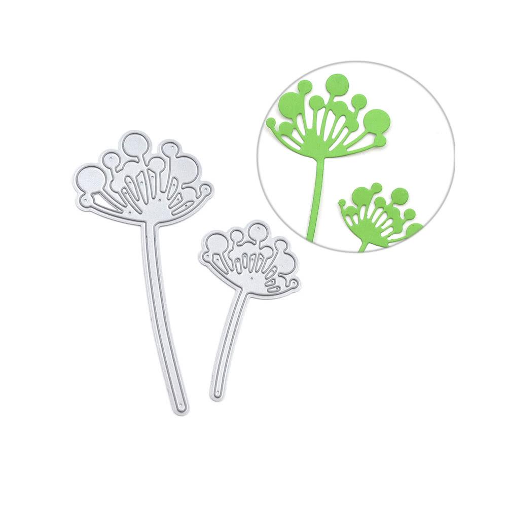 2pcs metal dandelion carbon steel template embossing cutting dies