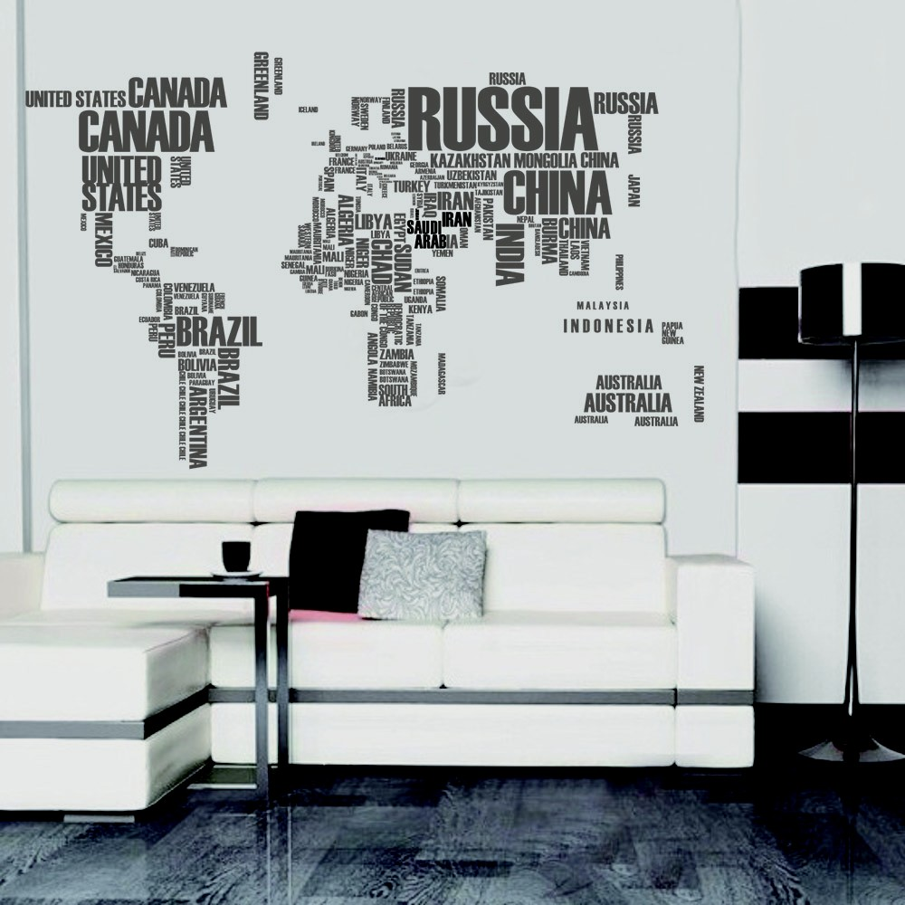 Decorative self adhesive living room bedroom letter world map decal decorative self adhesive living room bedroom letter world map decal removable mural wall art sticker home decor diy sales online tomtop gumiabroncs Images