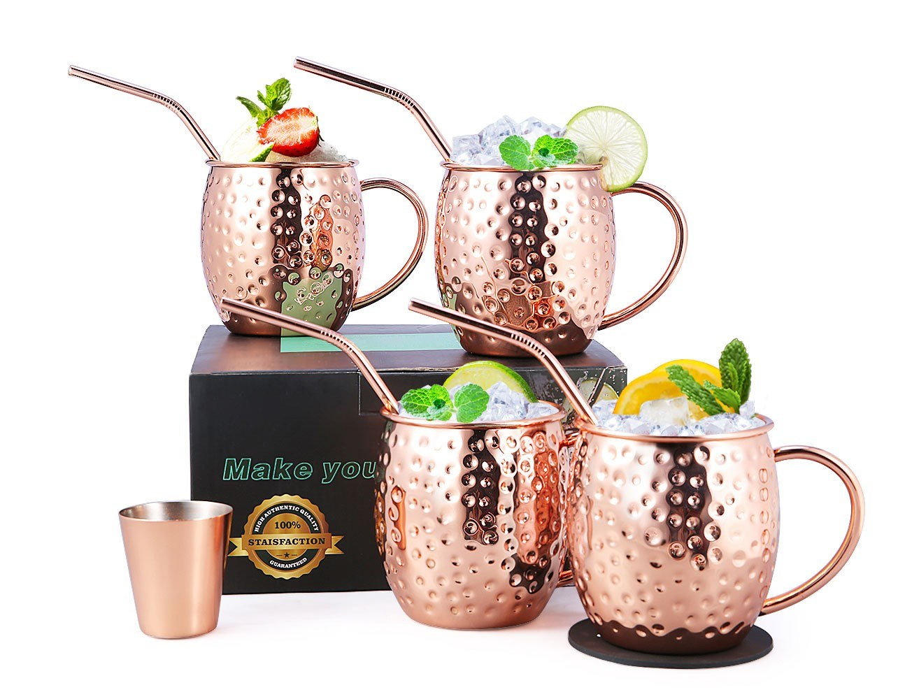 Tomtop - [US Clearance Sale] 67% OFF 4PCS Esonmus Moscow Mule Copper Mugs, $21.99 (Inclusive of VAT)