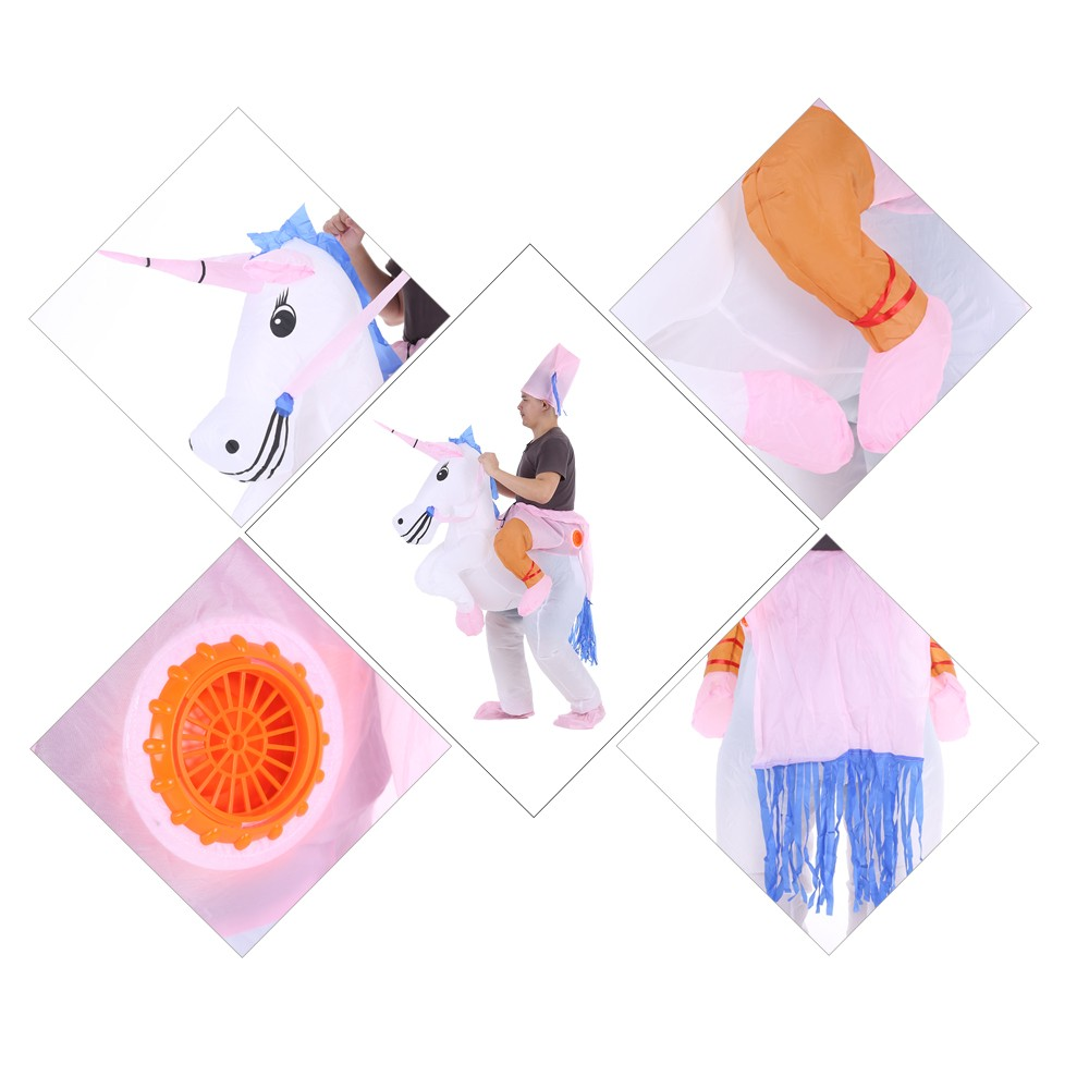 netter erwachsener inflatable einhorn kost m klage blow up abendkleid partei halloween. Black Bedroom Furniture Sets. Home Design Ideas