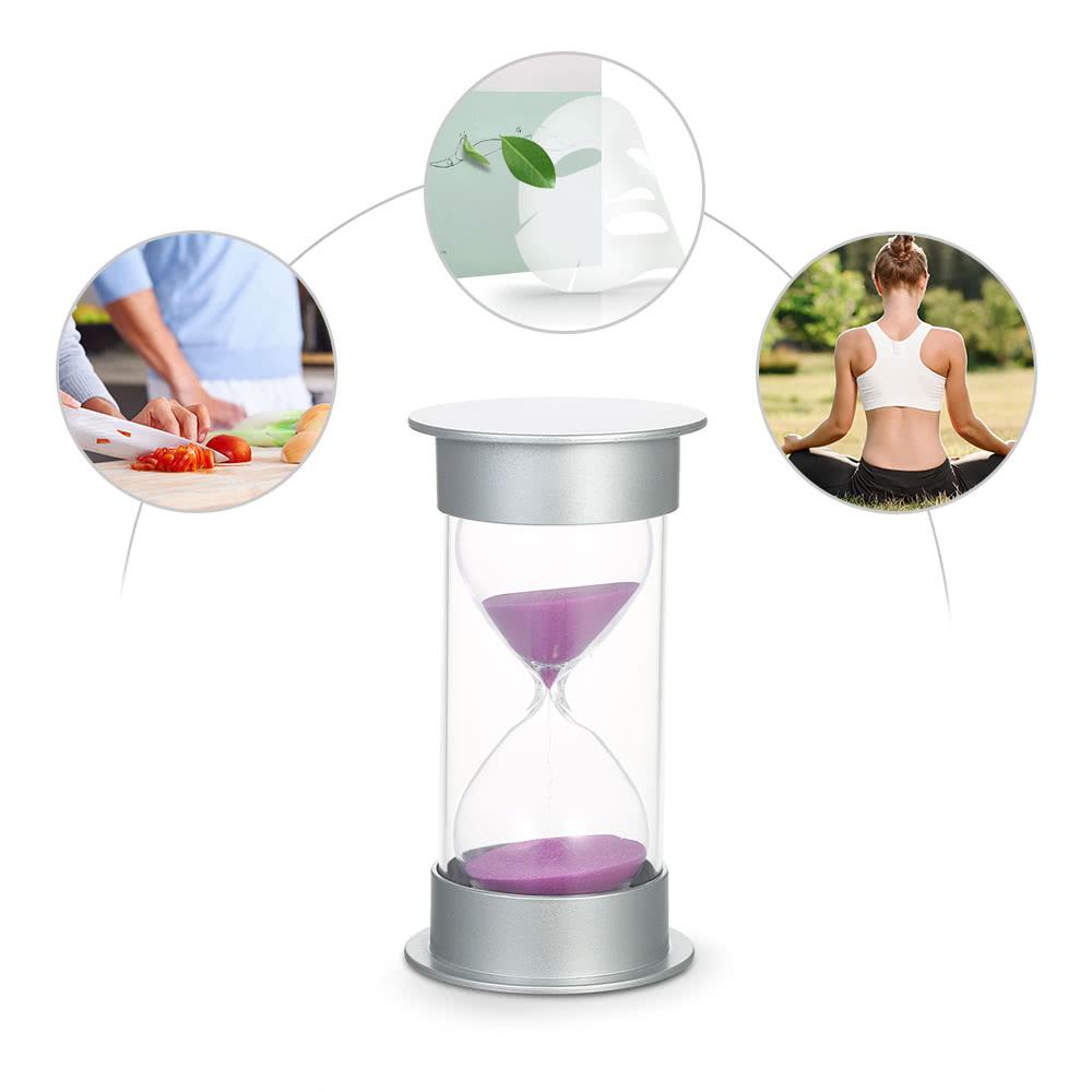 30 minuten sanduhr sandglass sand timer dekoration f r k che lila. Black Bedroom Furniture Sets. Home Design Ideas