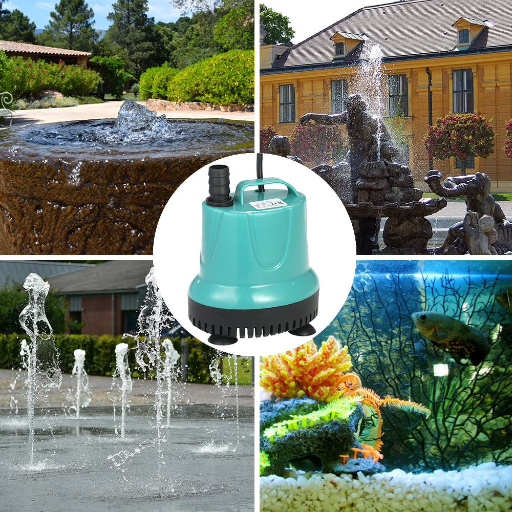 2000l h 25w submersible water pump mini fountain for for Water garden fish tank