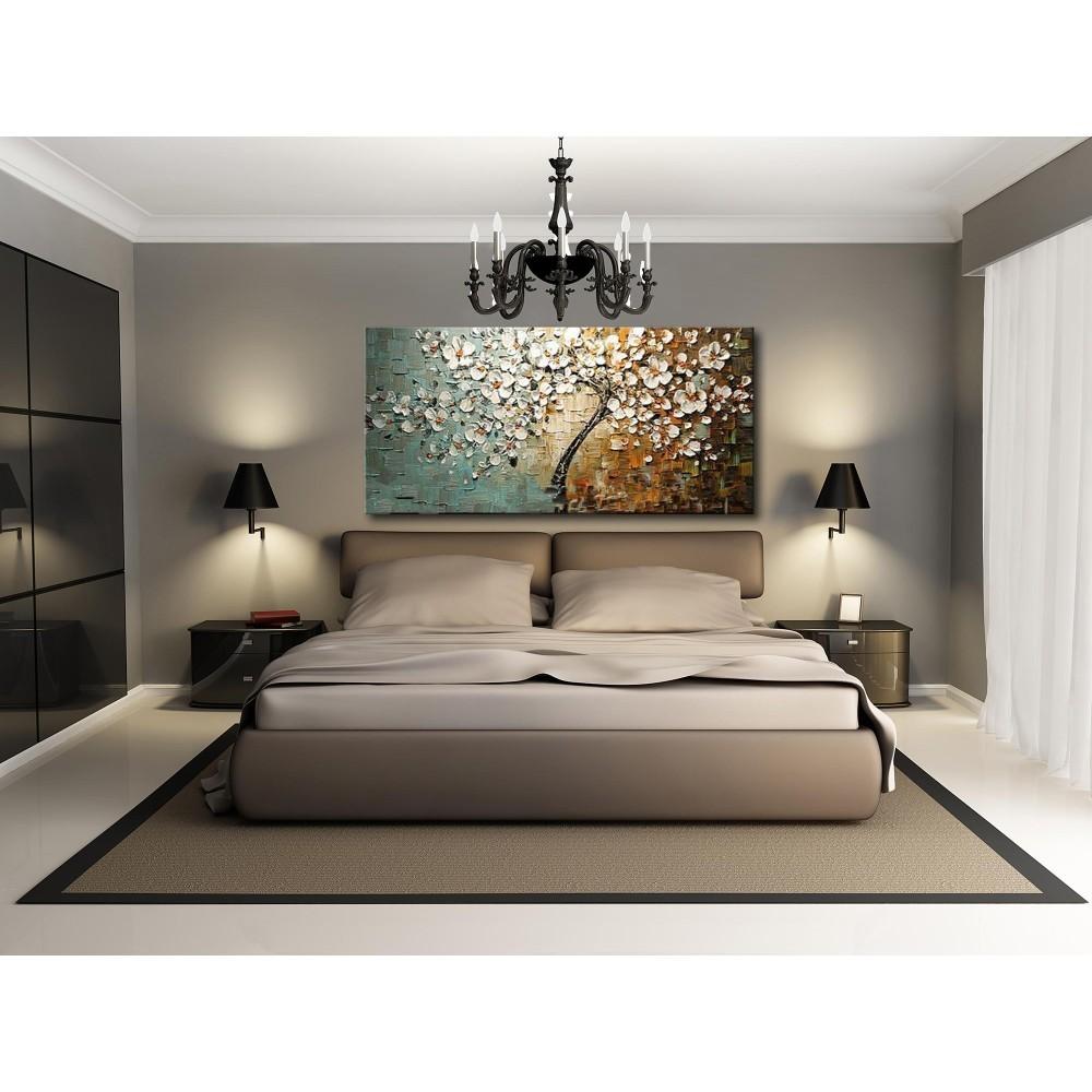 60 120cm peinture l 39 huile peint la main sans cadre for Toile chambre adulte