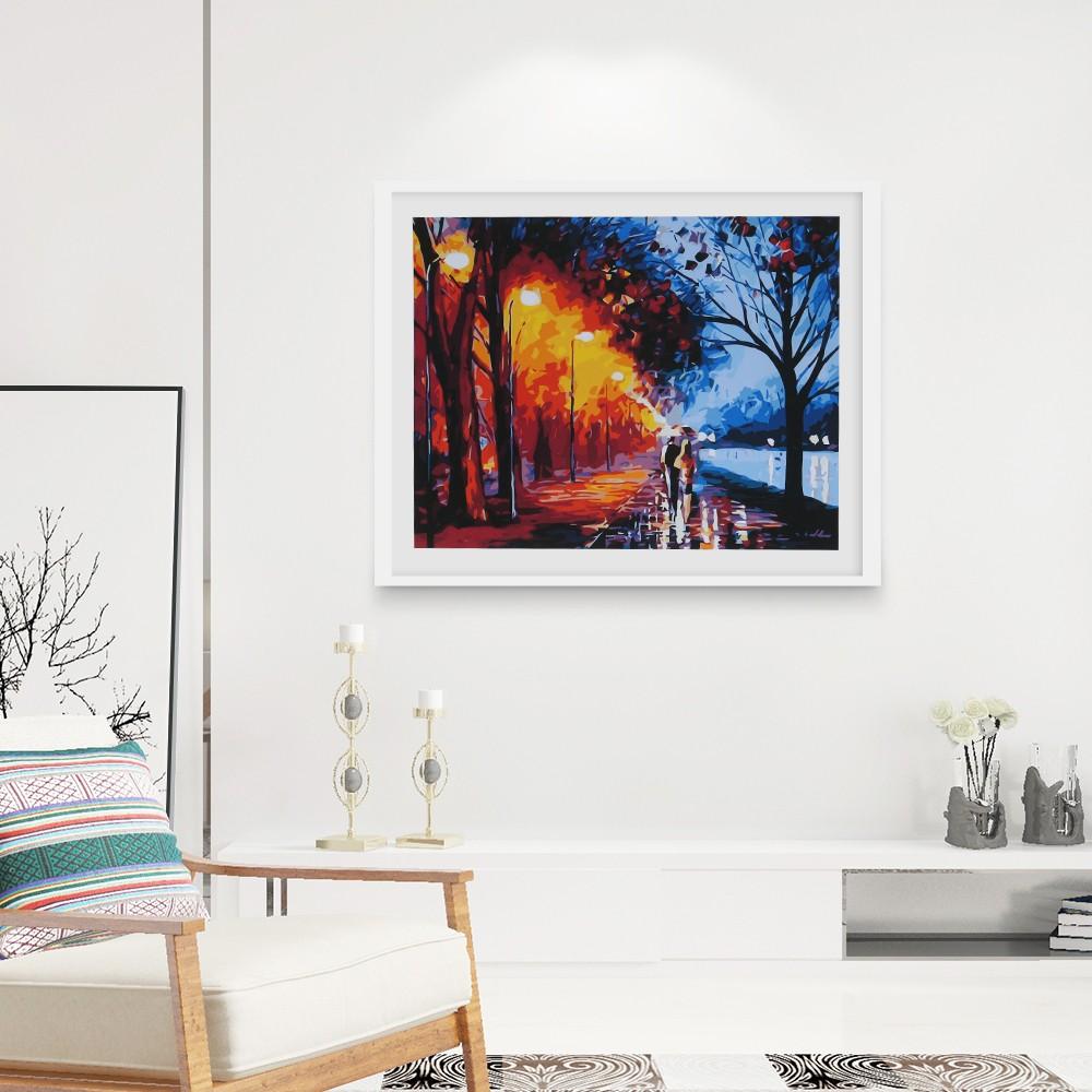 Rahmenlose DIY Digitale Ölgemälde 16 * 20 \'\' Herbst Landschaft ...
