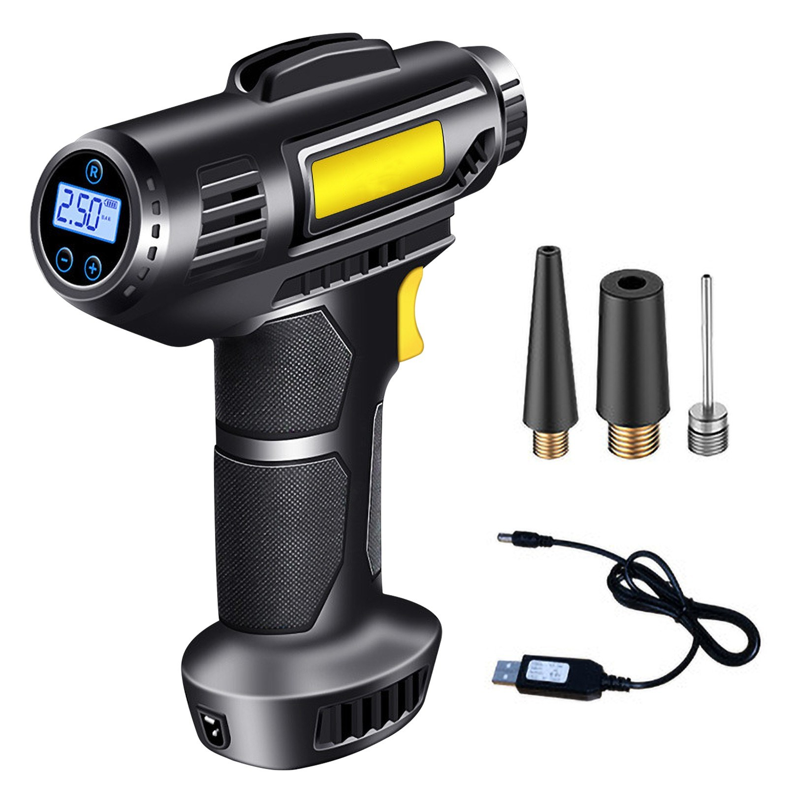 Tomtop - 62% OFF 4000mAh Tire Inflator Electric Handheld Cordless Bicycle Pump, $29.99 (Inclusive of VAT)