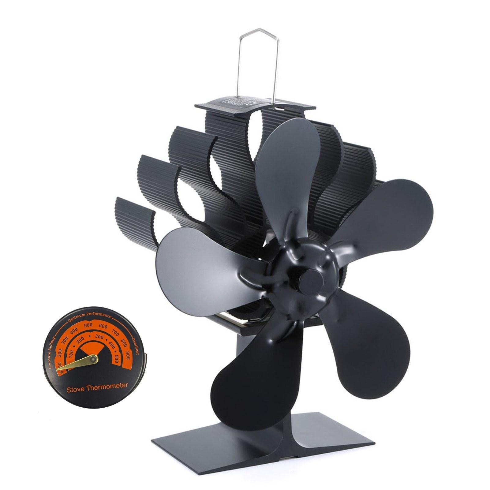 tomtop.com - 60% OFF Fireplace Fan Heat Powered Aluminum Alloy Wood Stove Fan, $38.99 (Inclusive of VAT)