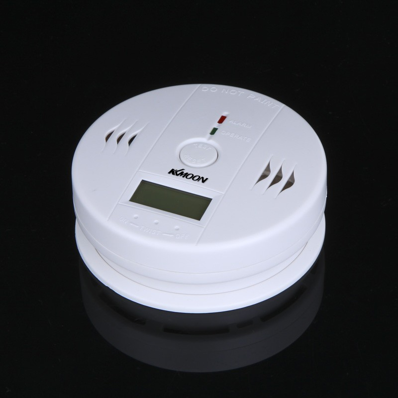 kkmoonm lcd monoxyde de carbone co oniteur de capteur empoisonnement d 39 alarme du d tecteur blanc. Black Bedroom Furniture Sets. Home Design Ideas