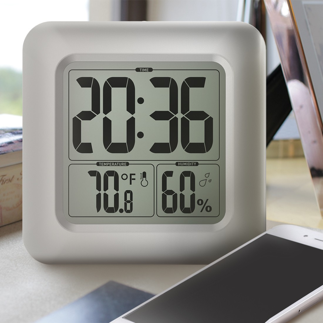 Attrayant LCD Water Resistant Shower Clock Bathroom Kitchen Wall Clock Temperature  Humidity Measurement With Sucker Sales Online   Tomtop