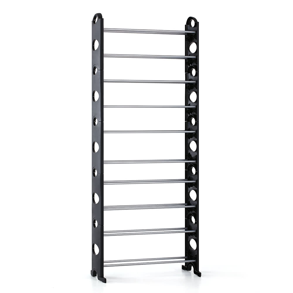IKayaa Portable 10 Tier Standing Shoe Rack Organizer Tower Stackable Shoes Storage Shelf Cabinet For 40 Pairs Of Free Combinition Sales Online