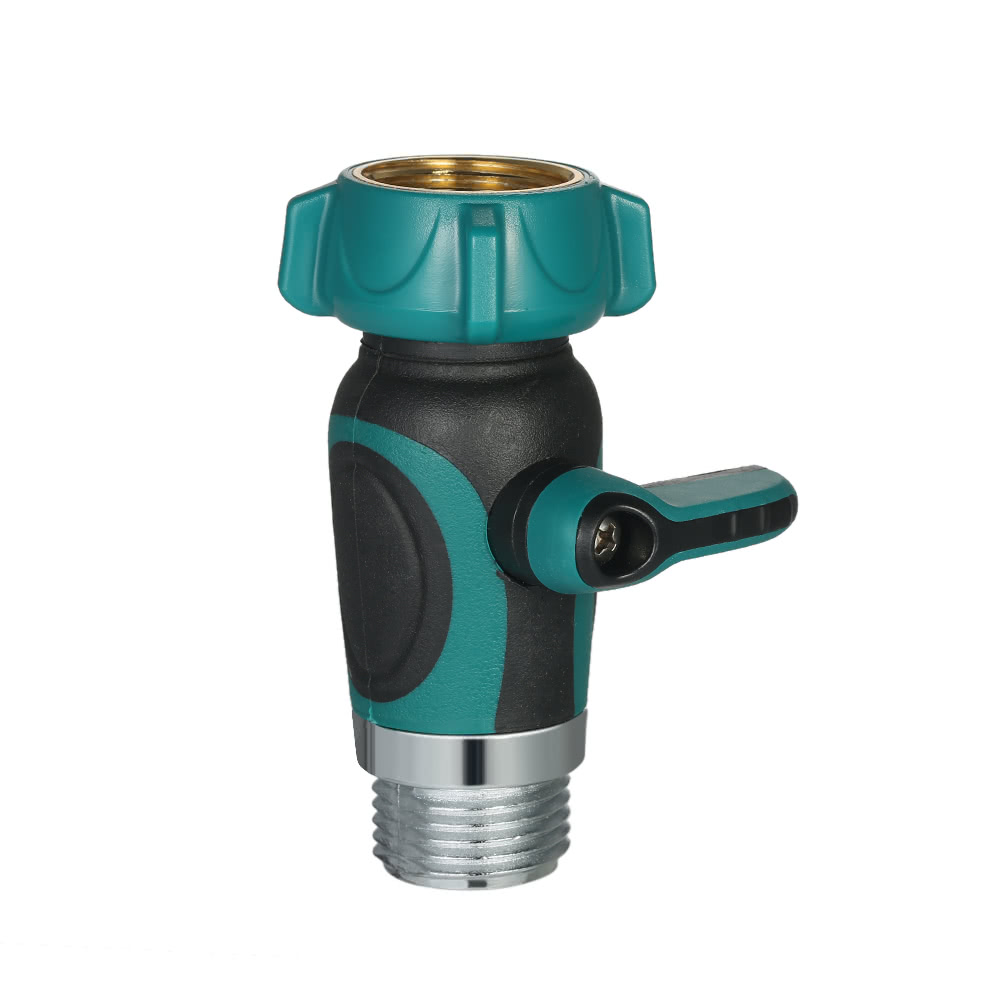 garden hose shut off valve. 1 Way Garden Hose Shut Off Valve Faucet Water Supply Adapter Full Metal Bolted And Threaded Spigot Extender Family Safe Sales Online - Tomtop