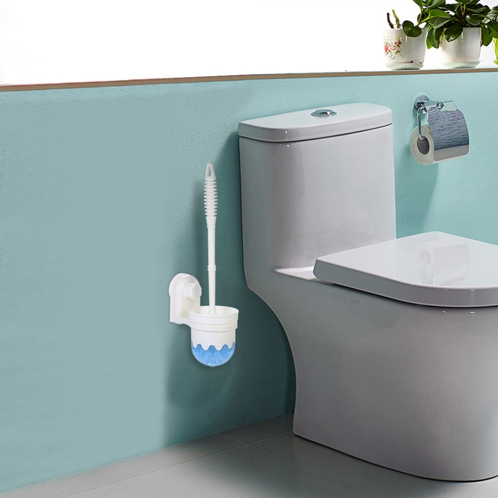 Esonmus Wall Mounted Bathroom Toilet Cleaning Brush + Brush Holder ...