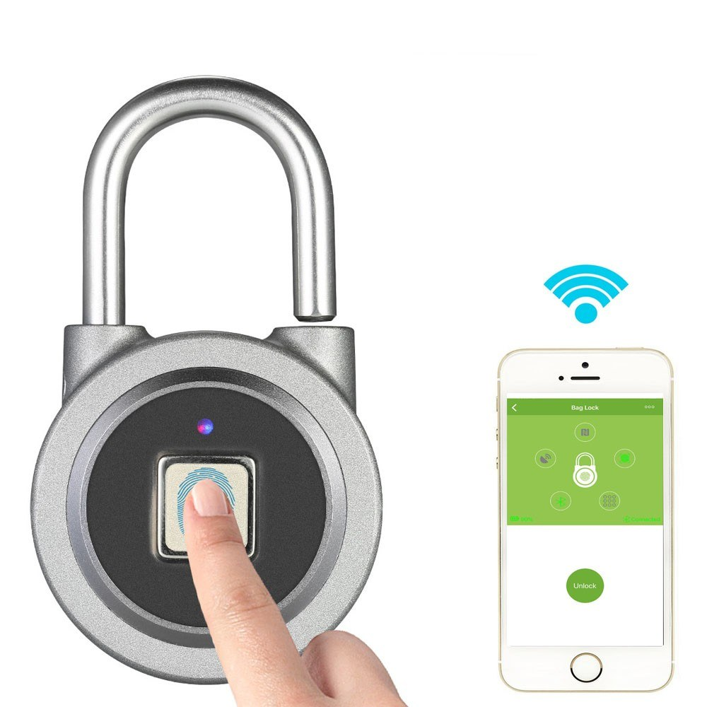 Bt Fingerprint Smart Keyless Lock Waterproof App Button
