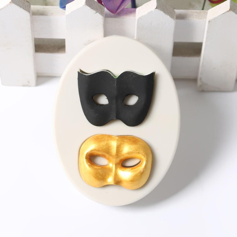 1 Pcs Party 2 Masks Silicone Fondant Mold Chocolate Molds ...